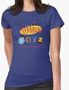 Ayy LMAO Boyz - Official Crew Shirt - Extra Meme Edition Womens Fitted T-Shirt