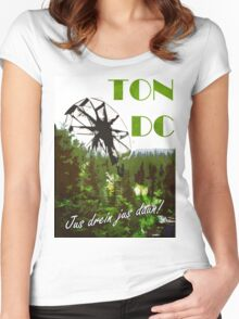 The 100 - Vintage Travel Poster (Ton DC) Women's Fitted Scoop T-Shirt