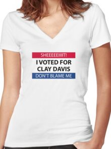 I voted for Clay Davis Women's Fitted V-Neck T-Shirt
