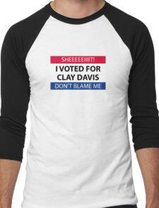 I voted for Clay Davis Men's Baseball ¾ T-Shirt