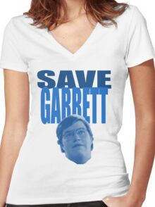 Save Garrett Women's Fitted V-Neck T-Shirt