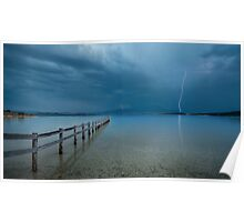 Summer Storms Mortimer Bay - Hobart Poster