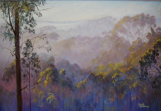 Across the Valley Towards Yea by Lynda Robinson