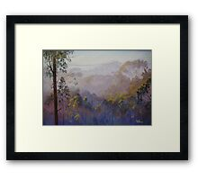 Across the Valley Towards Yea Framed Print