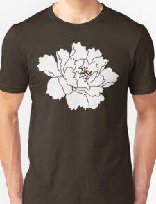 White Japanese Peony Flower Unisex T-Shirt