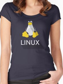 Tux the Penguin flatshaded Women's Fitted Scoop T-Shirt