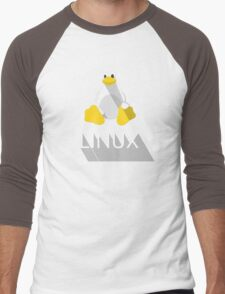 Tux the Penguin flatshaded Men's Baseball ¾ T-Shirt