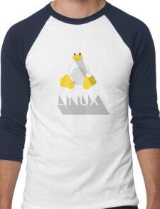 Tux the Penguin flatshaded Men's Baseball ¾ T-Shirt