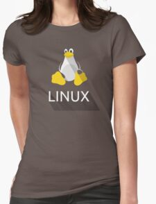 Tux the Penguin flatshaded Womens Fitted T-Shirt