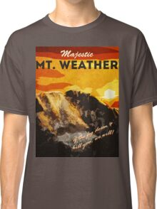 The 100 - Vintage Travel Poster (Mt. Weather) Classic T-Shirt