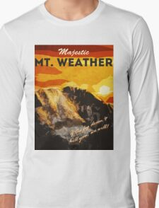 The 100 - Vintage Travel Poster (Mt. Weather) Long Sleeve T-Shirt