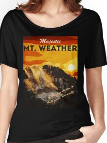 The 100 - Vintage Travel Poster (Mt. Weather) Women's Relaxed Fit T-Shirt