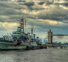 HMS Belfast by Peter Towle