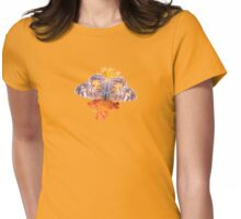 Pearl Crescent Butterfly on Devil's Paintbrush Womens Fitted T-Shirt