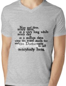 Everybody Lives  Mens V-Neck T-Shirt