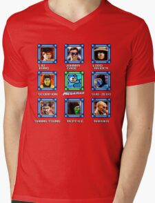 MegaMan vs Mortal Kombat Mens V-Neck T-Shirt