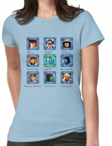 MegaMan vs Mortal Kombat Womens Fitted T-Shirt