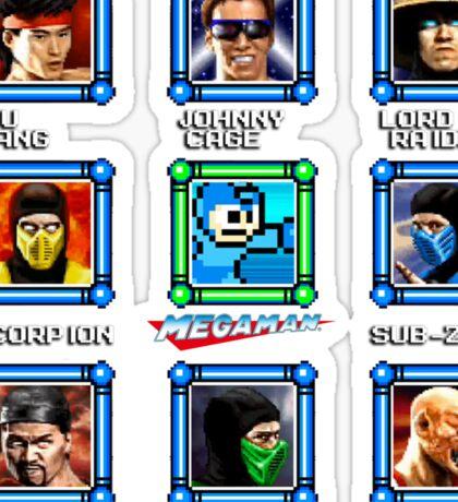 MegaMan vs Mortal Kombat Sticker