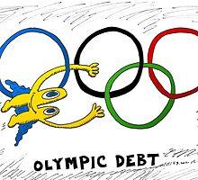 Binary Options News Comic of Olympic Debt by Binary-Options