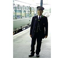 Smiling Train Inspector ! Photographic Print