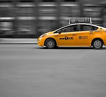 Yellow Cab NYC by Fern Blacker