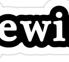 Jewish - Hashtag - Black & White Sticker