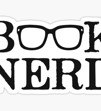 Book Nerd Nerdy Glasses Sticker