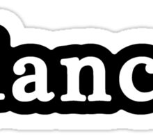 Dancer - Hashtag - Black & White Sticker
