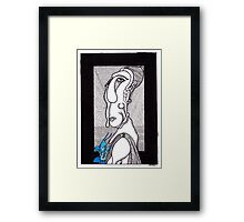 blue orchid beauty Framed Print