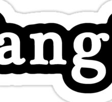 Fangirl - Hashtag - Black & White Sticker