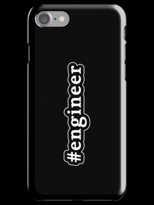 Engineer - Hashtag - Black & White by graphix