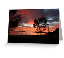 Red sky in the morning, Barmera,S.A. Greeting Card