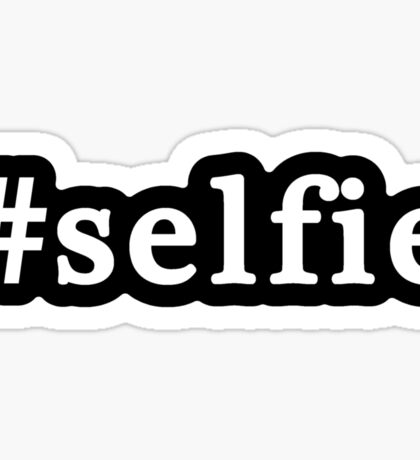 Selfie - Hashtag - Black & White Sticker
