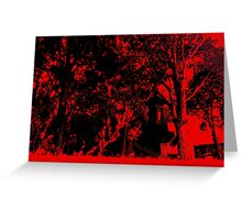Under The Blood Moon Greeting Card