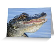 A gator with a smile! Greeting Card