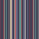 Blue grey stripes by Morag Anderson