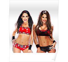 WWE Nikki & Brie Design - Bella Twins Poster