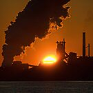 Sunrise over Stelco by Bill  Watson
