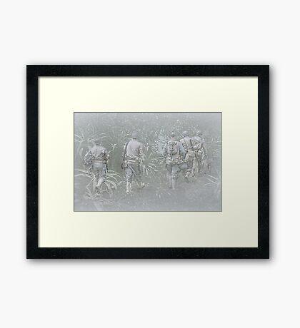 Jungle Warfare Framed Print