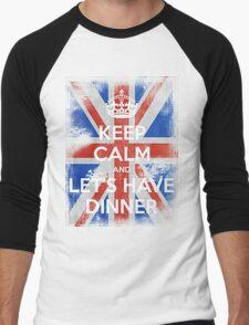 KEEP CALM and Let's Have Dinner - UJ - White Men's Baseball ¾ T-Shirt
