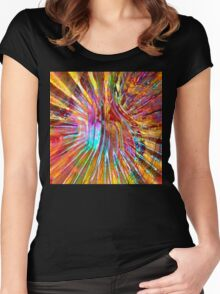 Carnival Glass Abstract Women's Fitted Scoop T-Shirt