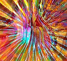 Carnival Glass Abstract by AnkhaDesh