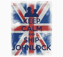 KEEP CALM and Ship Johnlock - UJ - Blue by Golubaja