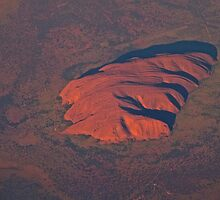 Strange Rock out of my window - flying Sydney to London by DavoSp8