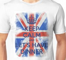 KEEP CALM and Let's Have Dinner - UJ - Blue - 2 Unisex T-Shirt