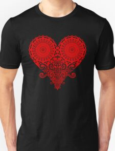Paisley Heart Red T-Shirt