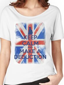 KEEP CALM and Make a Deduction - UJ - Blue - 2 Women's Relaxed Fit T-Shirt