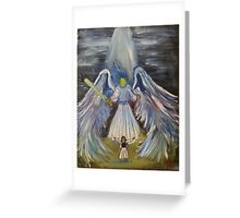 """Guardian""  by Carter L. Shepard Greeting Card"