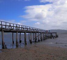 Pier in Chiloe by Kenji Ashman