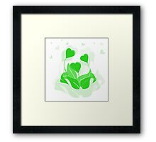 ecology emblem Framed Print